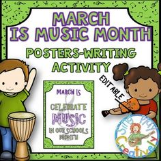 MARCH IS MUSIC IN OUR SCHOOLS MONTH *POSTERS... by SING-PLAY-CREATIVELY   Teachers Pay Teachers