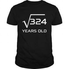 Cool Square Root Of 324 Years Old 18th Birthday T shirts