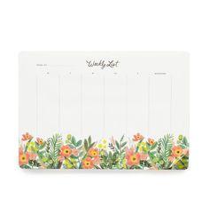 Honeydew Weekly Desk Pad