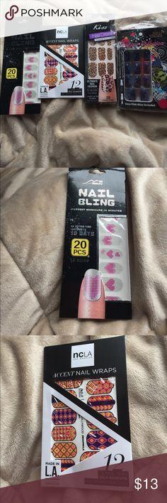 Nail decals/stickers and airbrush nails 3 nail decals/sticks and 1 airbrushed nails. Other