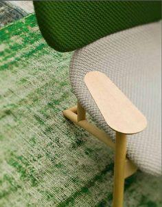 Moroso - Klara Chair by Patricia Urquiola with textile Beans colours Grass & Linen