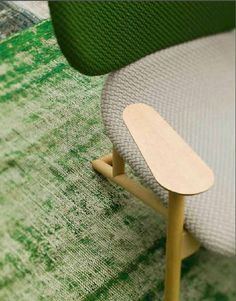 Moroso - Klara Chair by Patricia Urquiola with textile Beans colours Grass & Linen