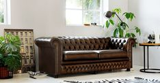 Rossendale antique brown Chesterfield Bank, Chill Room, Accent Chairs, Couch, Living Room, Interior, Furniture, Antique, Design