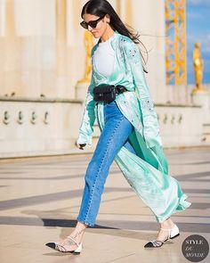 #New on #STYLEDUMONDE  http://www.styledumonde.com  with @gilda_grazia_it #GildaAmbrosio at #paris #fashionweek #pfw #chanel #levis #print #outfits #looks #streetstyle #streetfashion #mode