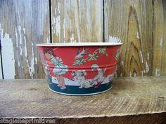 Vintage Style Ohio Wholesale Tin Childs TOY LAUNDRY TUB Basin FOOD SAFE