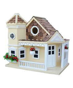 Look at this Yellow Sea Cliff Cottage Birdhouse on #zulily today!