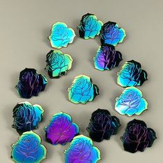 Rainbow Rose Enamel Pin | $12