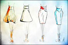 Fasony miękkie i twarde na przykładzie spódnic: w formie A i ołókowej