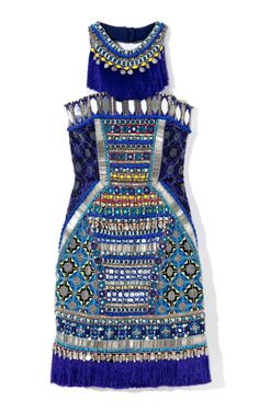 Embroidered Corset Dress by Matthew Williamson
