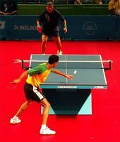 What Kind of Paint is Used for Ping Pong Tables? Open Table, A Table, Table Tennis Tournament, Kids Events, Ping Pong Table, Being Used, Basketball Court, Action, Sports
