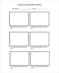 Les 8 meilleures images du tableau storyboard template sur for Film storyboard template word