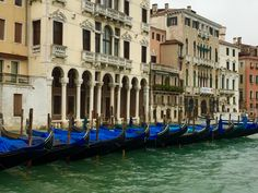 Gondolas all in a row