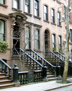 Greenwich Village Brownstones NYC. If I ever lived in NY, I would definitely live in a brownstone.