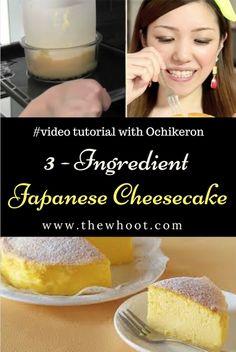 3 Ingredient Cheesecake Japanese Souffle Video Tutorial