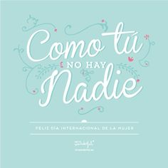 Mr Wonderful ¡Feliz Dia Internacional de la Mujer!