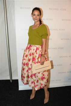 Katie Holmes attends the Michael Kors show during Spring 2014 Mercedes-Benz New York Fashion Week at The Theatre at Lincoln Center on Sept. 11, 2013.