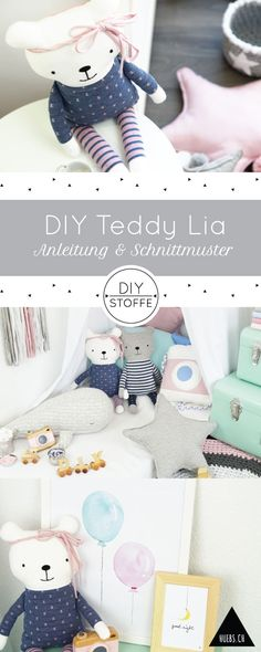 DIY Teddy Lia zum Kuscheln - Step by Step Näh-Anleitung & Schnitttmuster
