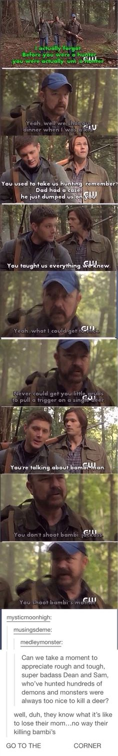 Also monsters are killing people deer are just being deer