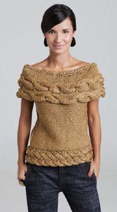 Receita de uma linda blusa night and day, feita em tricô, que utiliza o Fio Discovery da Aslan Trends.