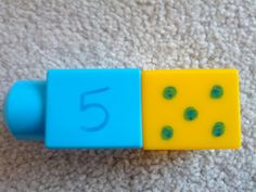 Numeracy Activities Using Mega Blocks - Matching word with number and picture! Maths Eyfs, Numeracy Activities, Literacy And Numeracy, Kindergarten Activities, Learning Activities, Preschool Activities, Space Activities, Number Activities, Math Centers