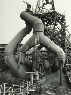 blast furnace and winding tower : bernd and hilla becher