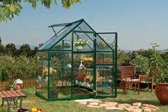 Harmony 6' x 4' Hobby Greenhouse - Green - modern - Greenhouses - BuilderDepot, Inc.