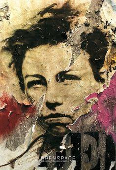 Ernest Pignon Ernest - Rimbaud - art contemporain urbain