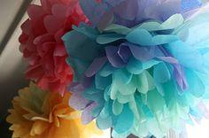 giant paper pompoms
