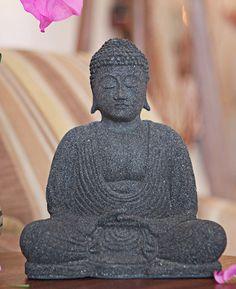 Cast Stone Peaceful Buddha Statue