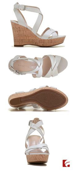 White hot wedges from Franco Sarto are so comfortable and chic for the season. Featuring leather straps and a cork wedge, these high quality sandals will take you far. Pair them with a seersucker summer dress or light wash skinny jeans and a bright top. Check out them out in black and tan too on Famous.com