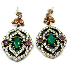 Creative Natural Emerald Ruby Pendant 925 Sterling Silver Women Turkish Fine Jewelry Gift And To Have A Long Life. Engagement & Wedding Jewelry & Watches
