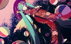 Miku dress in a kimono.