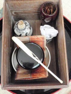 Unohana chabako demae 茶箱 by kinoko-no, via Flickr