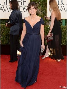 Sally Field at the 2013 Golden Globes in a gown by Alberta Ferretti