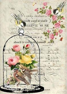 366b8bc40c8bd4b153d886a2fc9bb065 Decoupage Vintage, Decoupage Paper, Vintage Valentine Cards, Vintage Cards, Vintage Paper, Floral Printables, Printable Designs, Images Vintage, Vintage Pictures