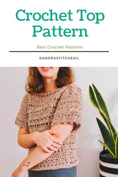 This crochet Top pattern includes a written pattern as well as photios to maximize your experience. It is A Fall crochet for an easy crochet project. Have fun making and wearing this piece or gift it to a friend! Be sure to follow on Instagram and check out my Etsy @SANDRASTITCHESIL