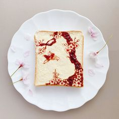 Top 10 Toast Slices Undergo Edible Makeovers into Rock Gardens, Pantone Swatches, and Flower Beds Sour Cream Ingredients, Kintsugi, Sashimi, Tostadas, Matcha, Edible Gold Leaf, Zen Rock Garden, Toast, Goodies