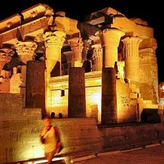 Nile Cruises 4u - Kom Ombo Temple at night