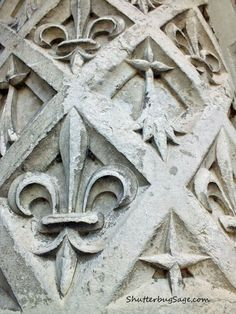 Fleur de Lis and Ermine Tails on a Pillar at Chateau de Blois a199ff06f