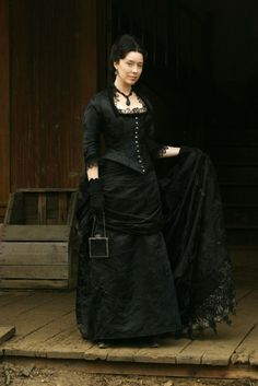 Molly Parker in Deadwood. I routinely covet Alma's costumes.