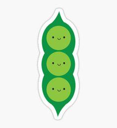 Kawaii Peas in a Pod Sticker