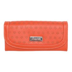 #GraceAdele Orange Envelope Wallet. http://CharlotteLee.GraceAdele.us/
