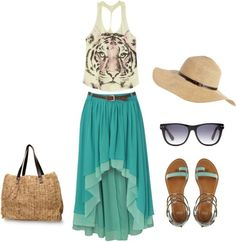 beach Outfit!!, created by kamrynxxatl on Polyvore