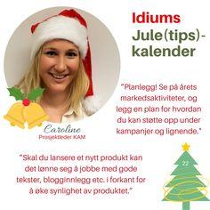 Idiums Jule (tips) kalender #julekalender #sosialemedier #markedsforing #digitalmarkedsføring #markedsføring #synlighet