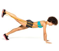 The 10-Minute Tone-Up: Work butt, abs and obliques with the 'Donkey Plank.' Learn how to do the move here. #SelfMagazine