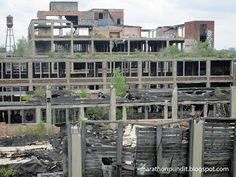 Packard Plant in Detroit, world's largest abandoned factory