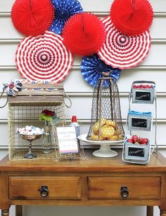 Build Your Own Shortcake - genius!  Kinda obsessed with the metal/wire baskets too...