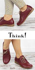 BSS 44 BESSA Think 84070-72-VEG Damen Schnür-Schuhe erdiges rosso (dunkelrot)