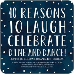 40th birthday party invitation, fortieth birthday party, custom ...