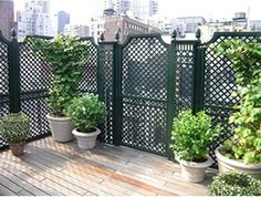 outdoor wood privacy trellis fencing chicago home